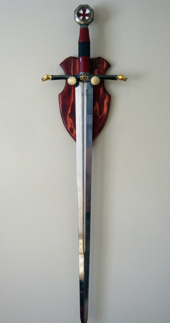 Sword Plaque Wall Hanger By Ozonereplicas On Etsy