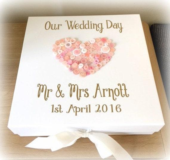 Wedding Day Gift Wedding Keepsake Memory Box Wedding Card Box ...