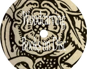 Woodcarving and Fretwork CD Book Collection 14 Old vintage Books on CD