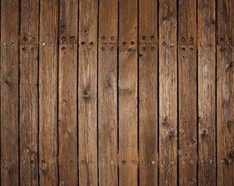 Brown Wood backdrop Vinyl photography backdrop Dark Wood Planks photo background for newborn Floordrops D-8821
