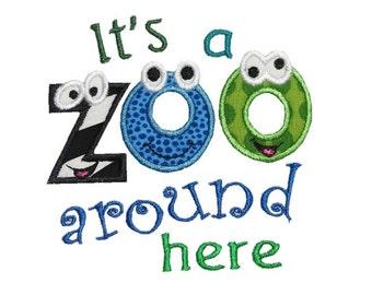 Zoo Around Here Machine Embroidery Applique Design
