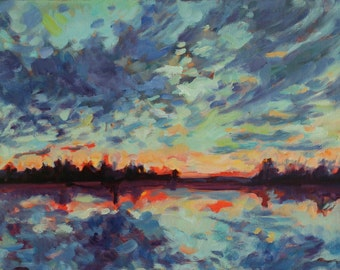 Original Oil Painting - Muskoka Sky