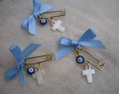 Safe pins martyrika-Baptism martyrika- Orthodox baptism day - martirika for a boy