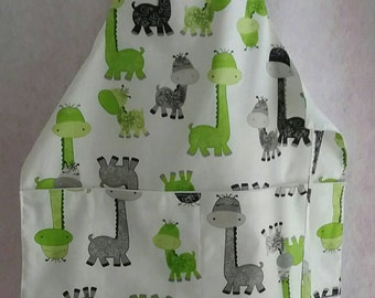 Child' s chef apron that fits 5-8 yr. Olds Gigi the Giraffe