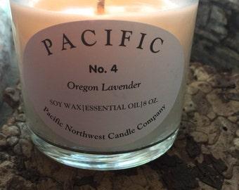 Lavender Oregon Essential Oil Handmade Candle