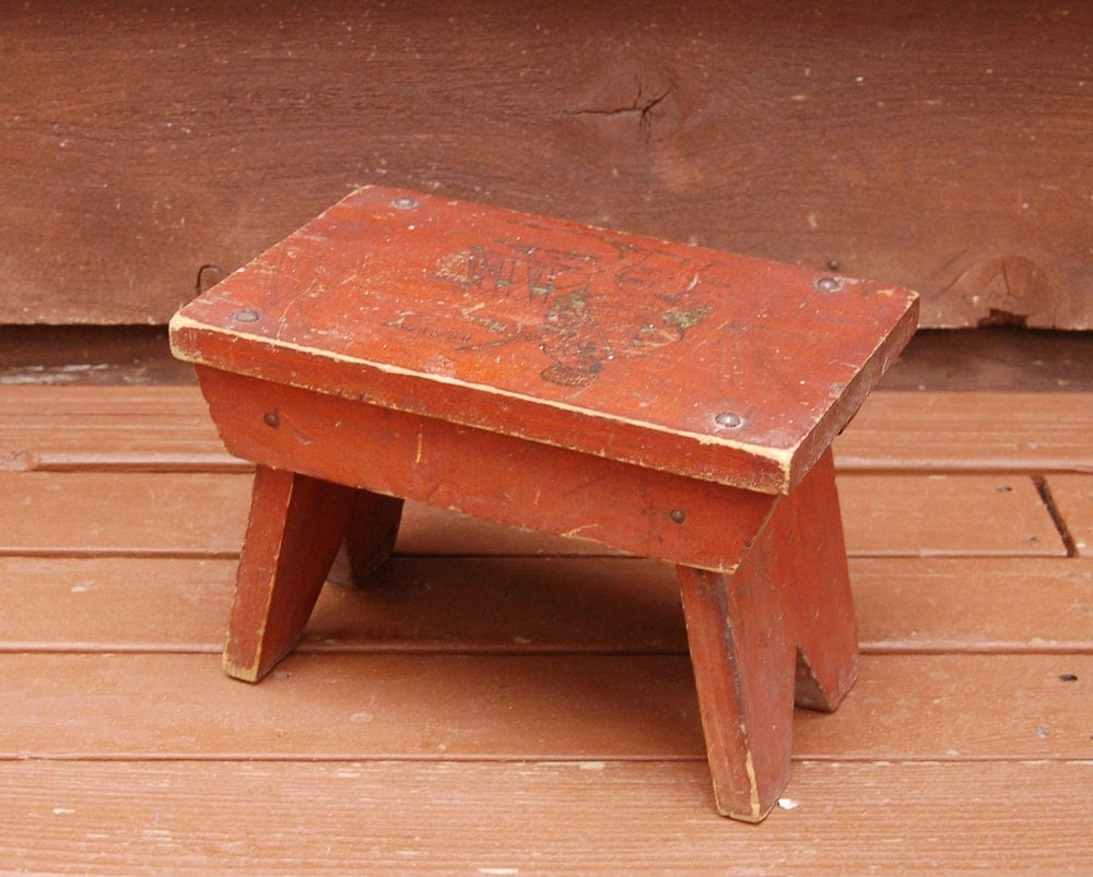 Davy Crockett Child S Wooden Step Stool Small Wood Bench