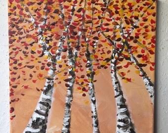 Birch Trees in Orange 3