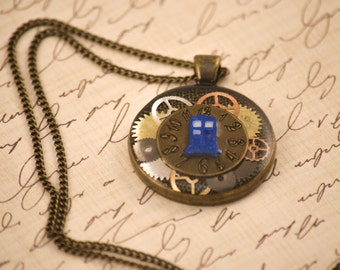 Doctor Who, Steampunk, Trapped Charm Necklace