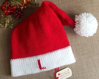 Monogrammed santa hat / Santa hat with Initials/ Personalized santa hat