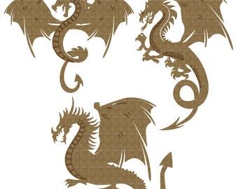 Dragon Set of 3