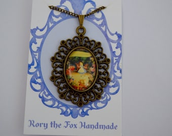 Vintage Alice in Wonderland necklace