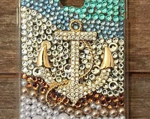Bling Anchor Nautical phone case, Beach phone case, bedazzled phone cover