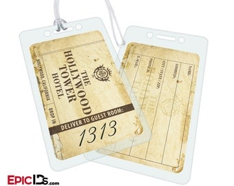 The Hollywood Tower Hotel (Room 1313) - Aged Novelty Luggage Tag