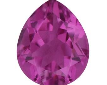 Radiant Orchid Quartz Triplet Pear Cut Loose Gemstone 1A Quality 12x10mm TGW 4.65 cts.