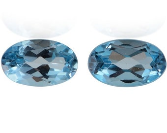 London Blue Topaz Loose Gemstones Oval Cut Set of 2 1A Quality 9x7mm TGW 4.00 cts.