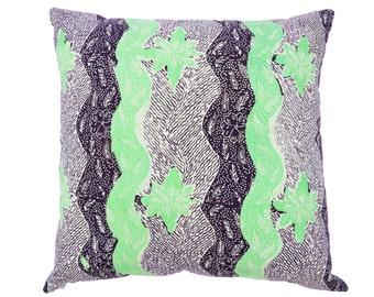 16 x 16 Green Madura batik cushion cover
