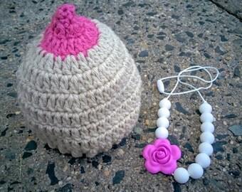 Crochet Boobie Beanie - Customizable Colors, Any Size