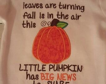 Fall inspired Pregnancy Annnouncement Shirt ~ Big Brother Announcement Shirt ~ Big Sister Announcement Shirt