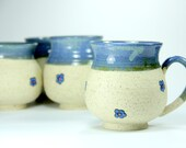 Ceramic cup, coffee mug, blue ceramic mug, pottery mug, ceramic and pottery, Made to order, tea cups, stoneware teacup, stoneware mug, gift