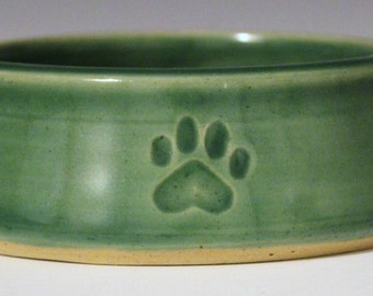 Green Paw Dog Bowl