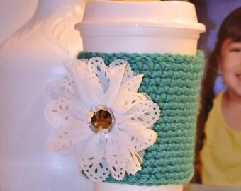 Mug Sleeve/Cozies With Flowers