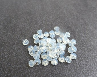 50pcs,25 pairs,Silicon over 925 Sterling Silver,Butterfly Earring Back,Earring Component,Wholesale