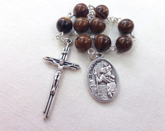 St Christopher Chaplet // Patron Saint of Travellers, Motorists