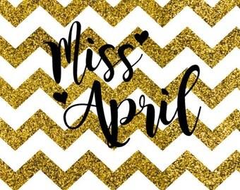 Miss April SVG