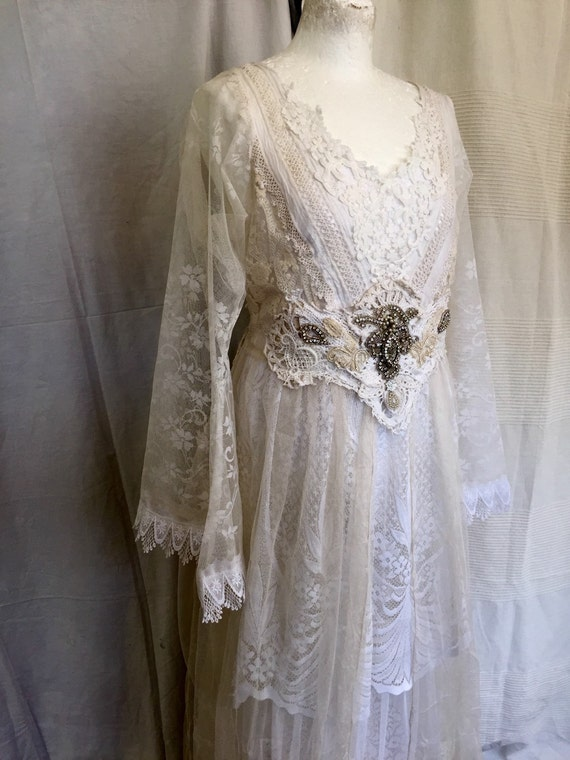 Whimsical wedding dressairy tullefrench lacebeautiful for Angel wings wedding dress