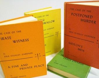 Mystery Books, Erle Stanley Gardner Mysteries, The Detective Book Club, Detective Mysteries, Four Mystery Books Wedding Decor, Table Decor