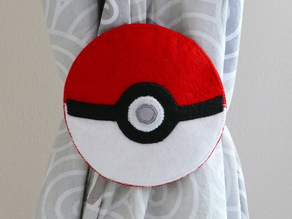 Pokemon Go 2 Curtain Tie Backs Pok Ball Pokemon Ball Boy Room