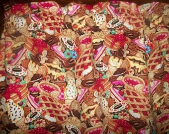 Pastries Ice Cream Gingerbread Sweets Cookies Bakery Fabric Curtain Valance