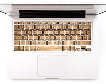 Macbook vinyl cover Wood Keyboard Sticker for Macbook Mac Lenovo Asus Sony Dell HP Acer Samsung Toshiba Wood Tree Timber Fiber # Woody 007
