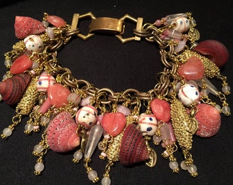 Bracelet (Strawberry Dreams) Natural Shell... Artist: Teresa bradford-Cole