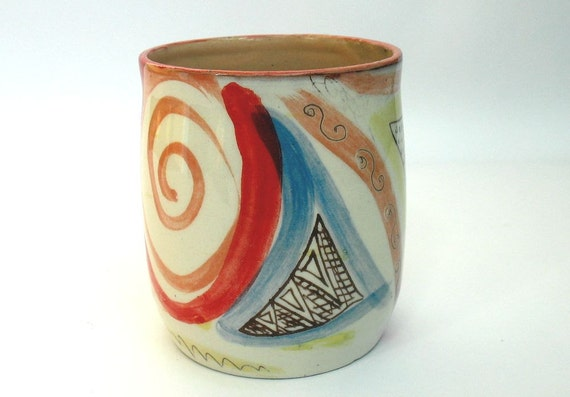 Mug Without Handle Handmade Coffee Cup Unique By