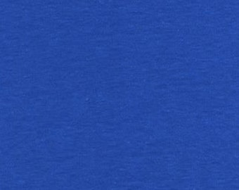 Royal Blue Solid Cotton Spandex Knit Fabric 5133