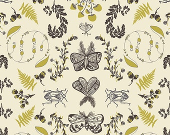 Nature Study in Bark, Forest Floor Collection by Bonnie Christine for Art Gallery Fabrics 6099