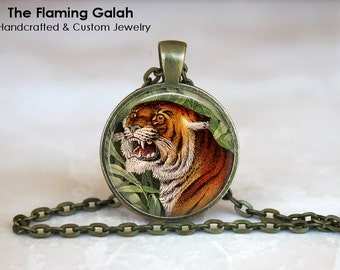 INDIAN TIGER Pendant •   Stunning Tiger •  Majestic Tiger • Gift Under 20 • Made in Australia (P0737)