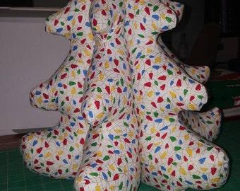 3D Stuffed Fabric Christmas Tree Tabletop Decor