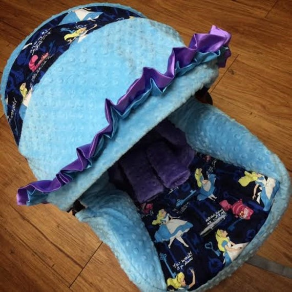 Alice In Wonderland Minky Infant Car Seat Replacement Cover