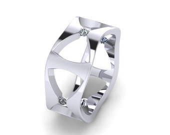 Flow of Elegance Silver Ring