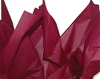 "Burgundy  24 Sheets Tissue Paper Gift Wrap, Wedding & Birthday Supply 24 Sheets 20"" x 30"""