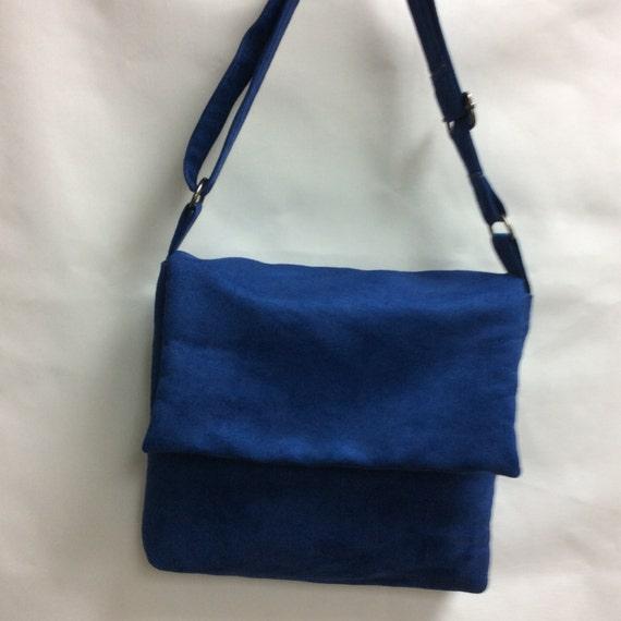 The Blue Suede Messenger Bag