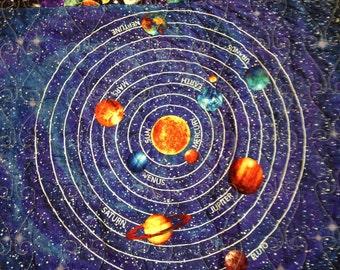 Solar system bedding etsy for Solar system fleece