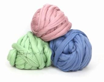 Manta de lana gruesa etsy - Lana gorda para mantas ...