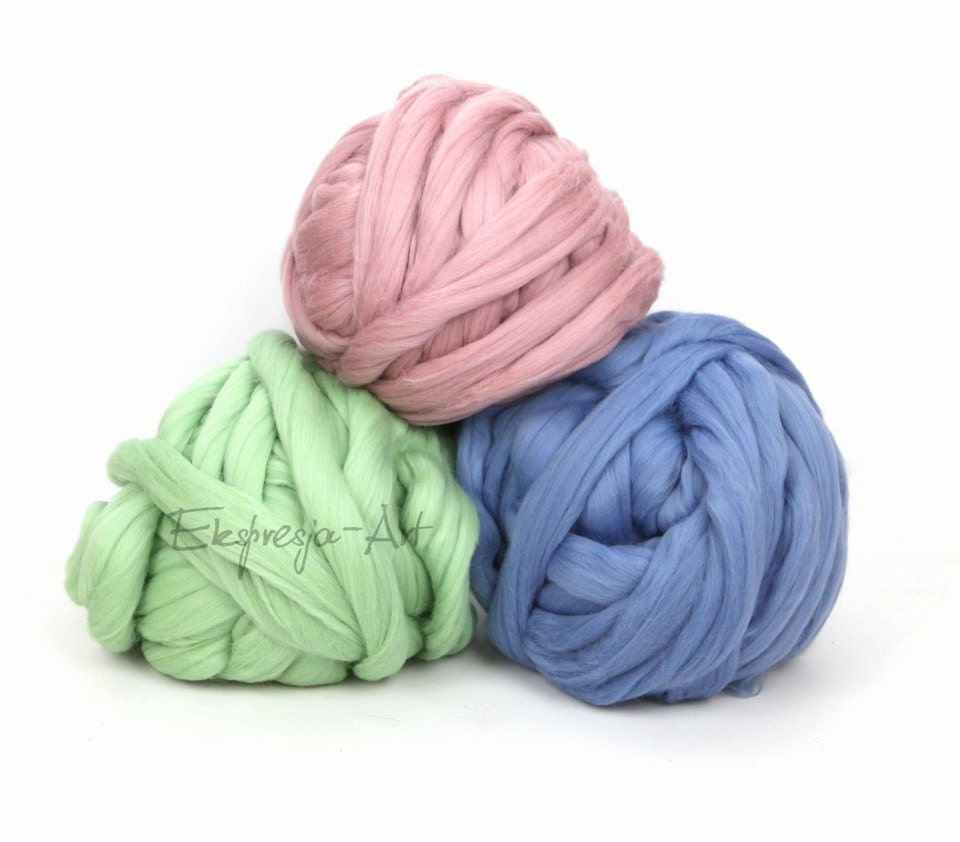 Xxl Knitting Yarn : Kg ib chunky merino wool bulky yarn thick