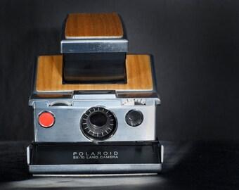 "Beautiful ""A"" Grade Teak Wood Polaroid Sx-70 Set"