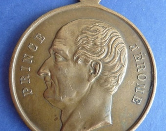 1860 Commemorative Medal Of The Death Of Prince Jerome Bonaparte. King Of Westphalia 1807-1813.
