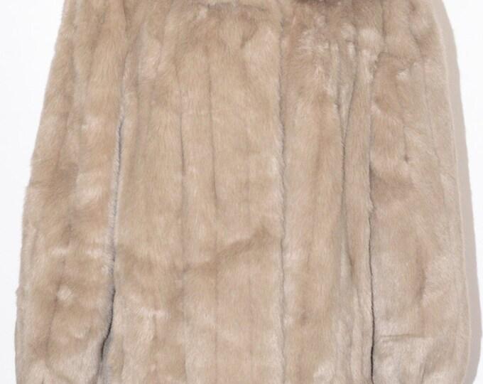 Vintage Estate Jordache Faux Fur Coat Made in USA ILGWU