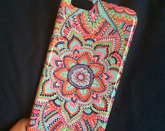 """iPhone 6/6S case """"Orange Spirals"""""""